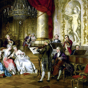 detail from The Concert, by Carl Schweninger II