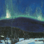 "Northern Lights"" by Canadian artist Tom Thomson"