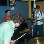 Live in the WFMU studio June 2002. Photo by Terre T