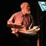 Cooper-Moore live at the Bowery Poetry Club, August 2009, playing the traps