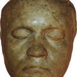 Plaster reproduction of a life mask of Ludwig van Beethoven.