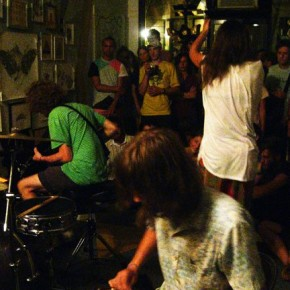 Live at Cinders Gallery, inside the Temple of Bloom