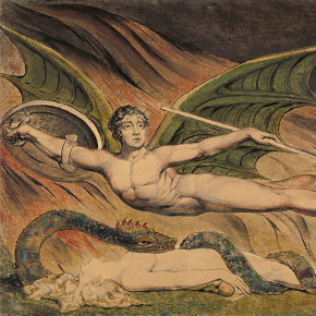 "Detail from William Blake ""Satan Exulting Over Eve"""