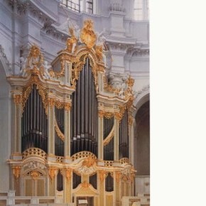 The 1755 Gottfried Silbermann/Zacharias Hildebrandt organ, Kathedrale, Dresden, Germany, on which BWV 769a (among other works) was recorded.