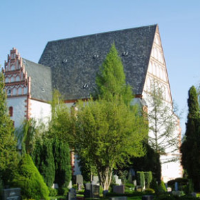 St. Mary's church in Rötha, Germany, in which BWV 690 (among other works) was recorded.