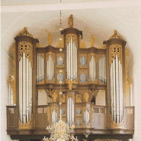 The 1675 Behrendt Huß/Arp Schnitger organ, Ss. Cosmae et Damiani, Stade, Germany, on which BWV 957 (among other works) was recorded.