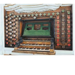 The 1724-30 Trost organ, Stadtkirche, Waltershausen, Germany, on which BWV 603 (among other works) was recorded.