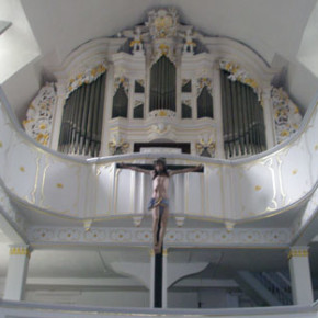 The 1717 Trost organ, St. Walpurgis, Großengottern, Germany, on which BWV 568 (among other works) was recorded.