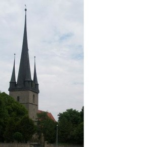 St. Walpurgis church, Großengottern, Germany, in which BWV deest (Emans 101) (among other works) was recorded.