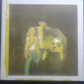Covers were hand screen printed, painting by Heather Rosenberry
