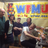 Mudhoney messing with WFMU's gear