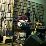 This photo was actually taken at WXYC in Chapel Hill, NC around the same time as the WFMU session.