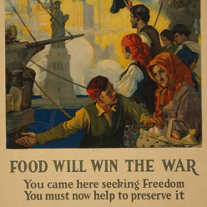 Food Will Win The War.....Wheat Is Needed For the Allies, Waste Nothing. U.S. Food Administration artist Charles Edward Chambers published by Rusling Wood Litho NY 1917