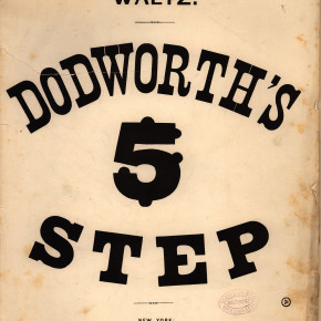 original sheet music for Dodworth's Five Step