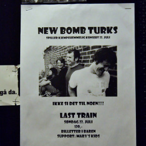 """Poster for a """"secret gig"""" -- Since Last Train is not allowed to put up more than one poster"""