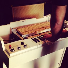 The Strangelet Disasters testing out a mellotron at Switched On