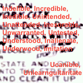 Ucanible Unlearnguitaritate