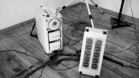 The Audio Relay Unit installed at Antena Gallery.